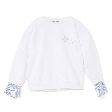 stripe cuffs sweatshirt - WT