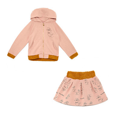 ladies & gentlemen hoodie skirt -SET